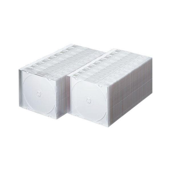 (まとめ)サンワサプライ DVD・CDケースマットホワイト FCD-PU100MW 1パック(100枚)【×3セット】 送料込!