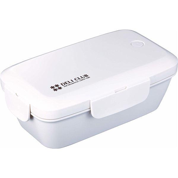 (まとめ) ランチボックス/弁当箱 【500ml ホワイト】 1段 電子レンジ 食洗機可 4点ロック方式 『デリクラブ』 【40個セット】 送料込!