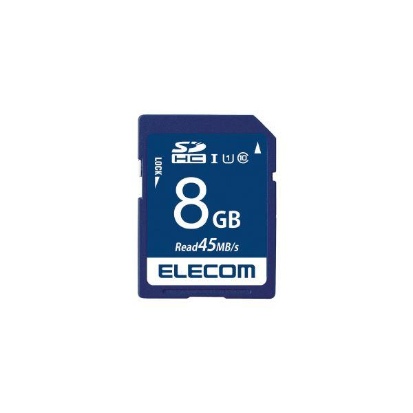(まとめ)エレコム SDHCメモリカード 8GB MF-FS008GU11R【×30セット】 送料込!