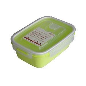 (まとめ) 保存容器/スマートフラップ&ロックス 【900ml L 1P グリーン】 電子レンジ・冷凍庫可 日本製 【×60個セット】 送料込!