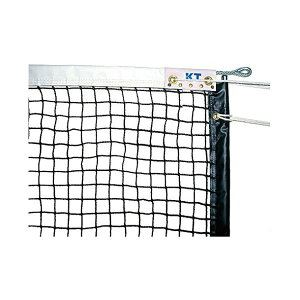 KTネット 全天候式有結節 日本製 贈答品 硬式テニスネット サイドポール挿入式 センターストラップ付き サイズ:12.65×1.07m 送料込 日本製 KT221 ブラック