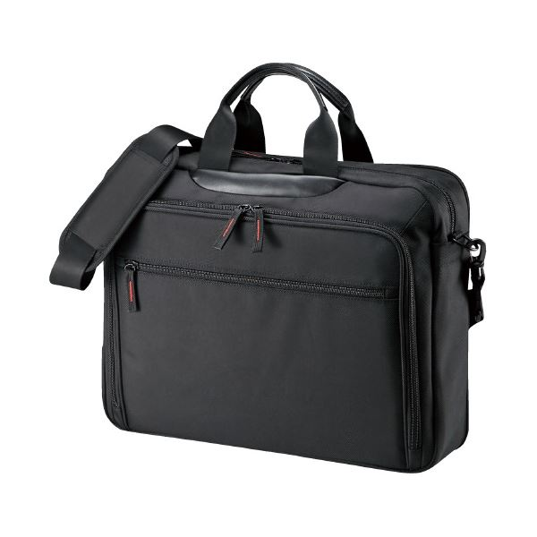 (まとめ)サンワサプライ ビジネスバッグ BAG-W2BKN ブラック(×3セット) 送料込!