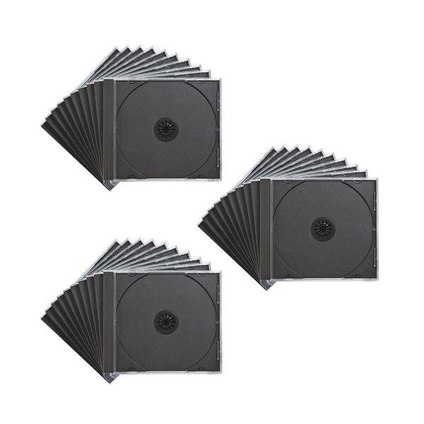 (まとめ) サンワサプライ DVD・CDケースブラック FCD-PN30BK 1パック(30枚) 【×5セット】 送料無料!