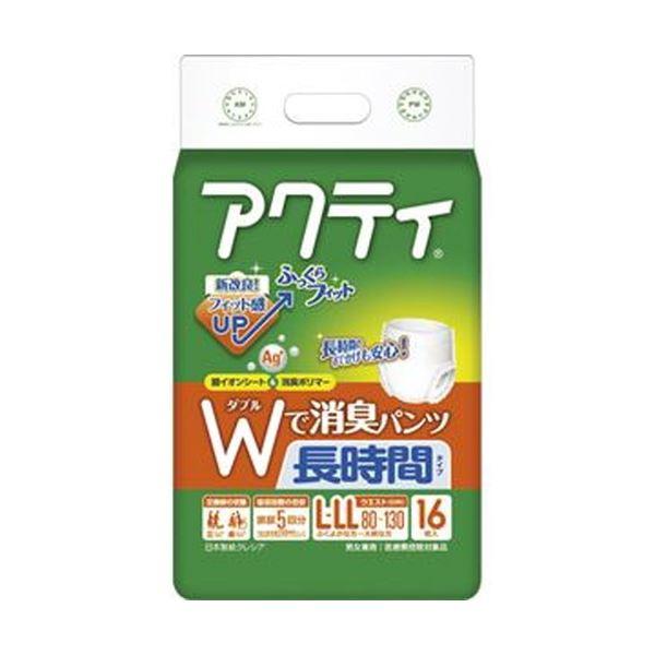 (まとめ)日本製紙 クレシア アクティWで消臭パンツ 長時間タイプ L-LL 1パック(16枚)【×10セット】 送料込!