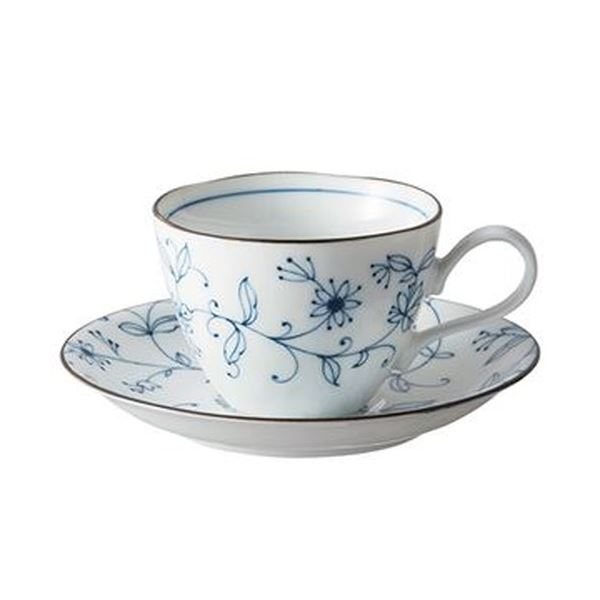 (まとめ)いちがま 線唐草コーヒー碗皿 1セット(5客)【×3セット】 送料無料!
