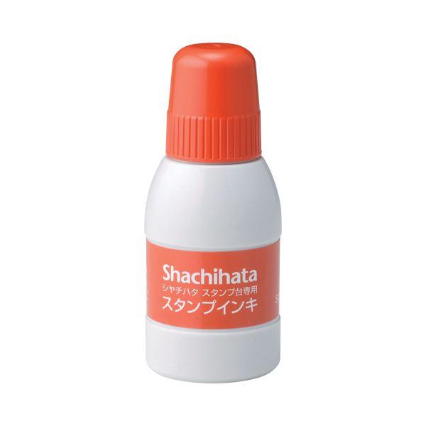 (まとめ) シヤチハタ スタンプ台専用補充インキ 40ml 朱色 SGN-40-OR 1個 【×30セット】 送料無料!