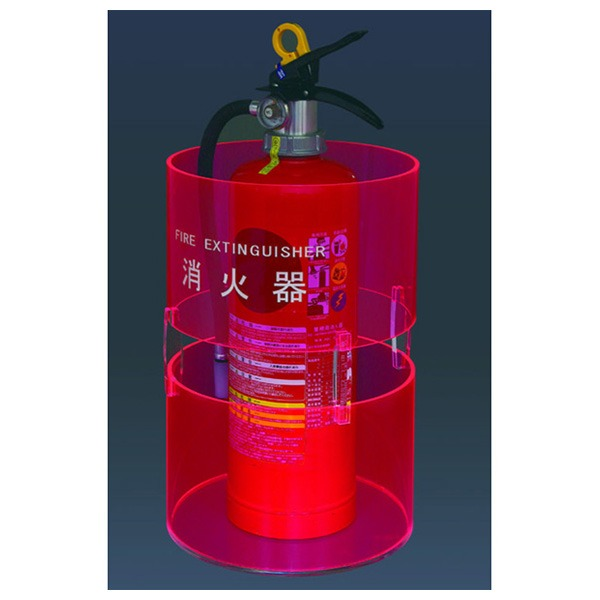 消火器ボックス 据置型 SK-FEB-FG330 蛍光ピンク 送料無料!