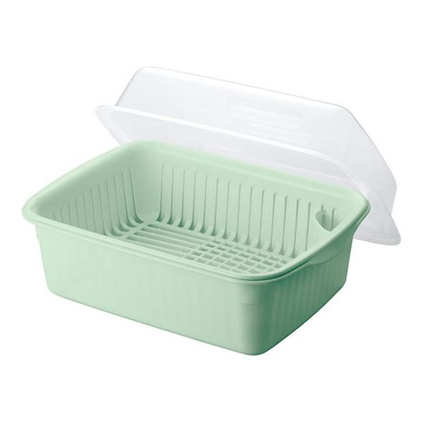 (まとめ) 水切りかご/水切りセット 【大】 フード付き 抗菌仕様 グリーン キッチン用品 『Nポゼ』 【10個セット】 送料込!