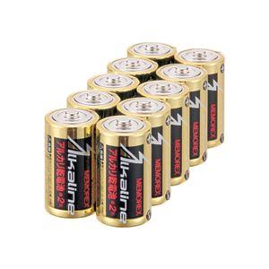 (まとめ) メモレックス・テレックス アルカリ乾電池単2形 LR14/1.5V/10S 1パック(10本) 【×10セット】 送料無料!