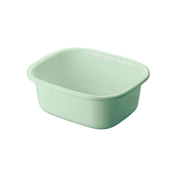 (まとめ) 洗い桶/ウォッシュタブ 【角型】 抗菌仕様 プラスチック製 グリーン キッチン用品 『Nポゼ』 【40個セット】 送料込!