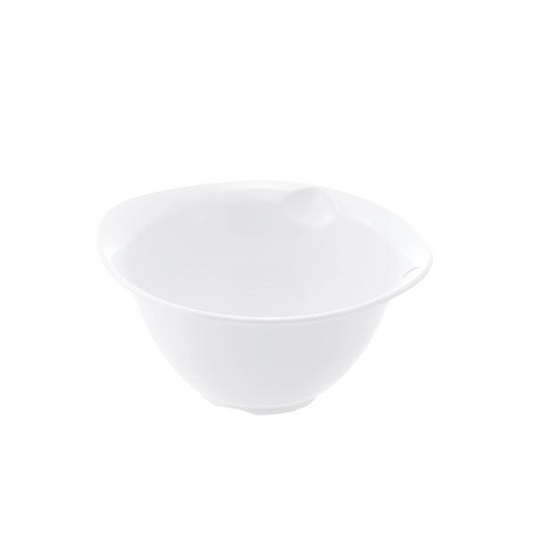 (まとめ) プラスチック製 ボール/キッチン用品 【ホワイト M】 銀イオン配合 食洗機対応 『シェリー』 【×80個セット】 送料込!