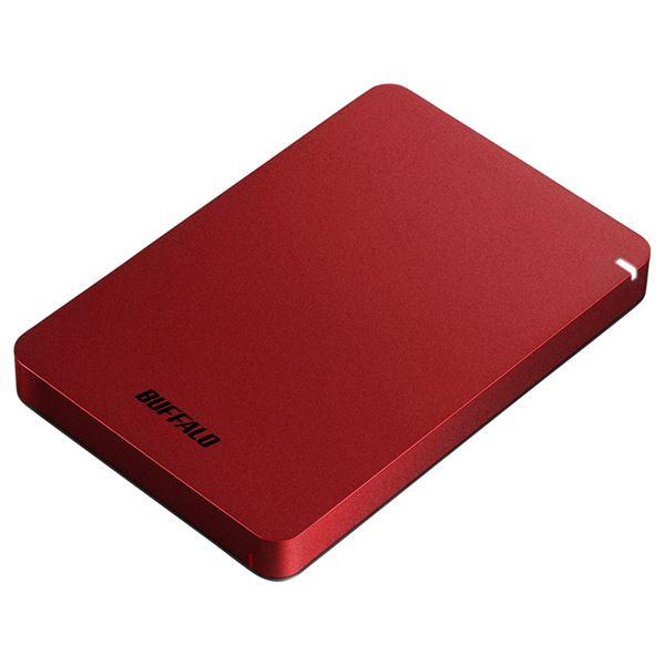 バッファロー USB3.1(Gen.1)対応 耐衝撃ポータブルHDD 1TB レッド 送料無料!