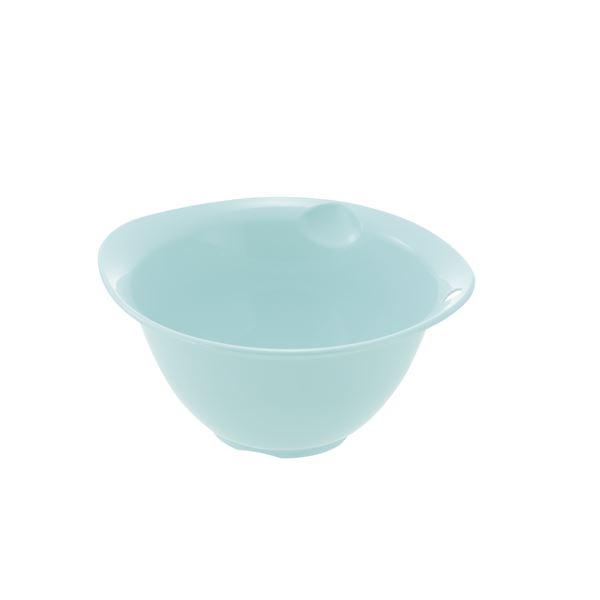 (まとめ) プラスチック製 ボール/キッチン用品 【ミントブルー M】 銀イオン配合 食洗機対応 『シェリー』 【×80個セット】 送料込!