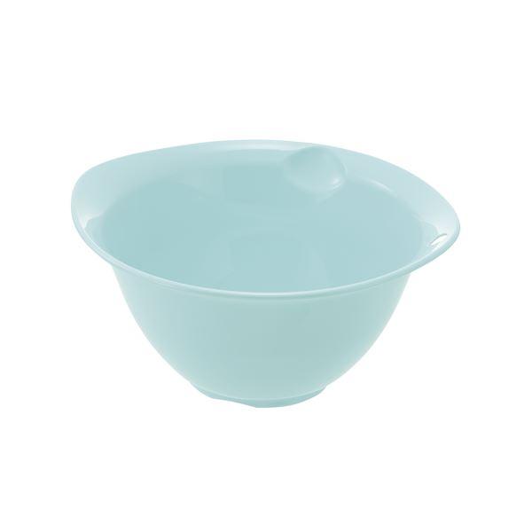 (まとめ) プラスチック製 ボール/キッチン用品 【ミントブルー L】 銀イオン配合 食洗機対応 『シェリー』 【×80個セット】 送料込!
