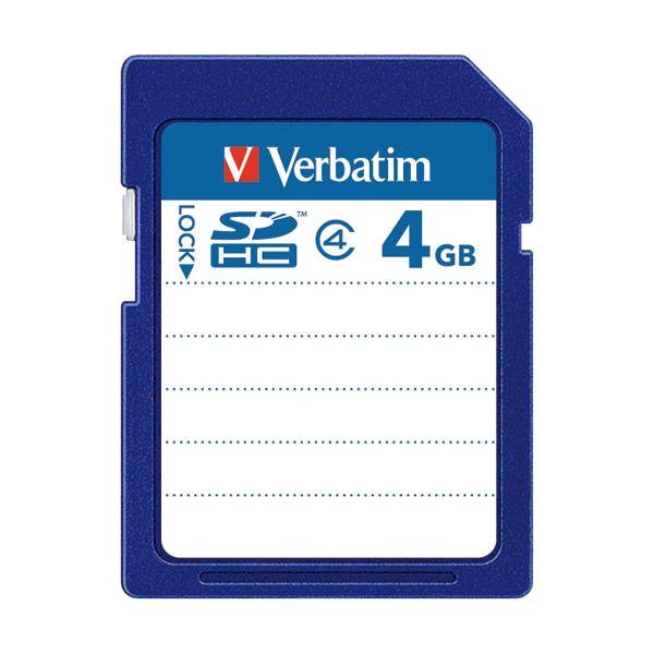 (まとめ) バーベイタム SDHCカード 4GBClass4 SDHC4GYVB1 1枚 【×10セット】 送料無料!