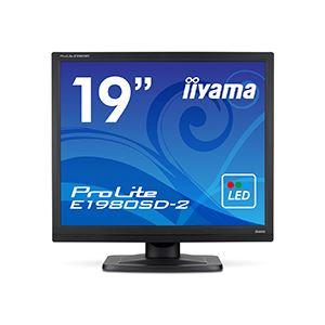 iiyama ProLite19型スクエア液晶ディスプレイ ノングレア マーベルブラック E1980SD-B2 1台 送料込!