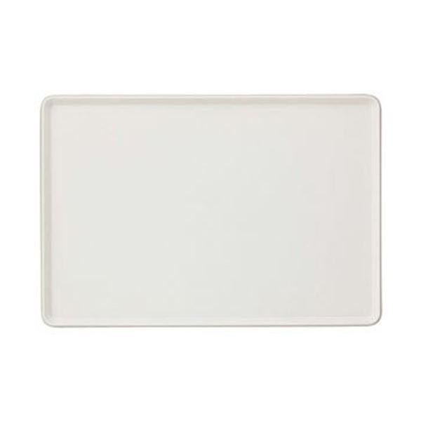 (まとめ)トレー 大 388×265×15mm 白 1枚【×20セット】 送料無料!