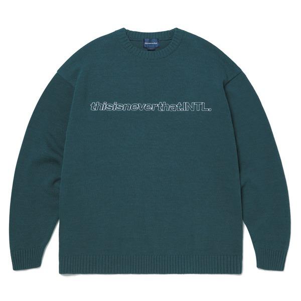 大洲市 thisisneverthat(ディスイズネバーザット)TN20FKW004 SP-INTLセーター 送料無料! L/グリーン SP-INTLセーター/グリーン L 送料無料!, 河村製紙:820f9f6b --- rishitms.com