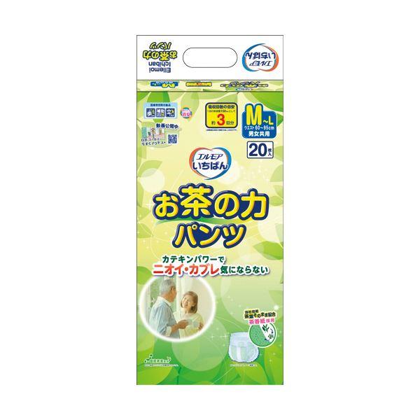 (まとめ)カミ商事 エルモア いちばんお茶の力パンツ M-L 1パック(20枚)【×5セット】 送料無料!