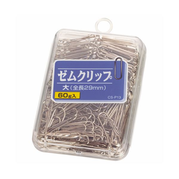 (まとめ) ライオン事務器 ゼムクリップ 大29mm 60g CS-P13 1箱 【×30セット】 送料込!
