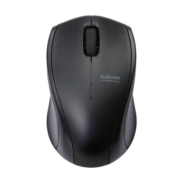 (まとめ) エレコム静音Bluetoothマウス(IR LED 3ボタン) ブラック M-BT15BRSBK 1個 【×5セット】 送料無料!