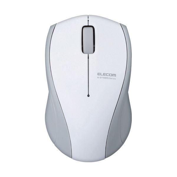 (まとめ) エレコム静音Bluetoothマウス(IR LED 3ボタン) ホワイト M-BT15BRSWH 1個 【×5セット】 送料無料!