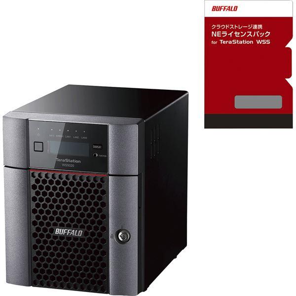 バッファロー TeraStation WSS デスクトップ4ベイNAS 8TB WorkgroupNEライセンスパック 1年5TBセット WS5420DN08W9-1Y5 送料込!