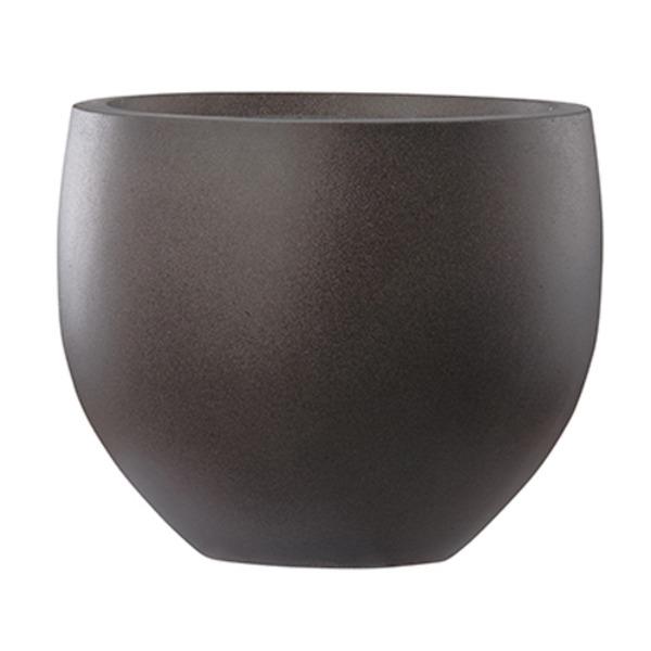 ファイバーセメント製 軽量植木鉢 エルム エッグ ブラウン 40cm 大型植木鉢 送料無料!