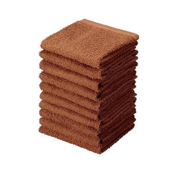 (まとめ)アイ・フィット おしぼりタオル ブラウンHT-BR10 1パック(10枚)【×20セット】 送料無料!