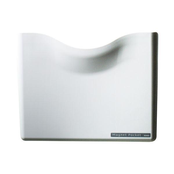 (まとめ) ソニック ネオジマグネットポケット A4 白 MP-447-W 1個 【×10セット】 送料無料!
