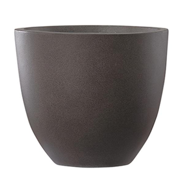 ファイバーセメント製 軽量植木鉢 エルム ラウンド ブラウン 42cm 大型植木鉢 送料無料!