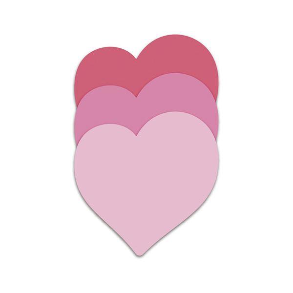 (まとめ) スリーエムジャパン ポストイット シルエットノート 強粘着 ハート【×50セット】 送料無料!