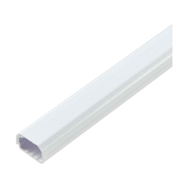 (まとめ)ELPA 切れるモール 1号 1m テープ付 ホワイト MH-CT11H(W)1本【×20セット】 送料込!