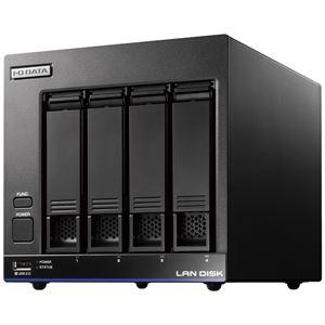 アイ・オー・データ機器 高性能CPU&NAS用HDD「WD Red」搭載 長期3年保証 中規模オフィス向け4ドライブビジネスNAS「LAN DISK X」 4TB 便利な引っ越し機能付 送料無料!