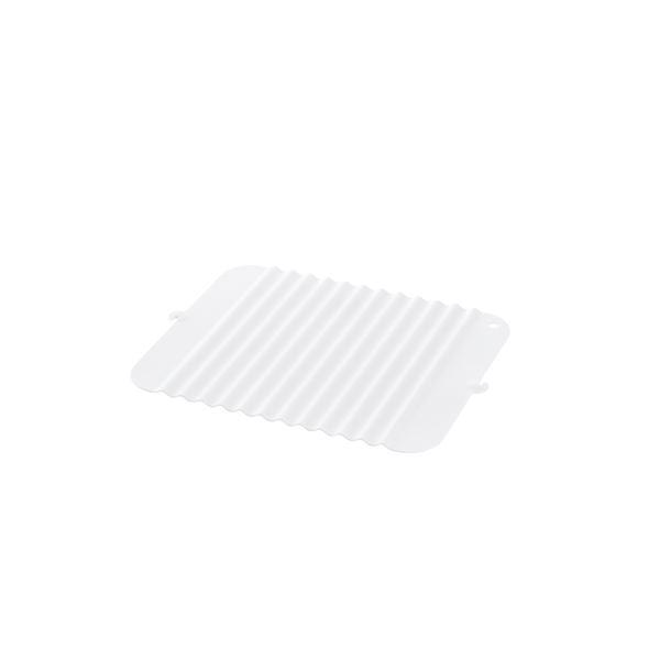 (まとめ) 立てて乾かせるシリコン製 シンクマット 【ホワイト】 S キッチン用品 『シェリー』 【×20個セット】 送料無料!