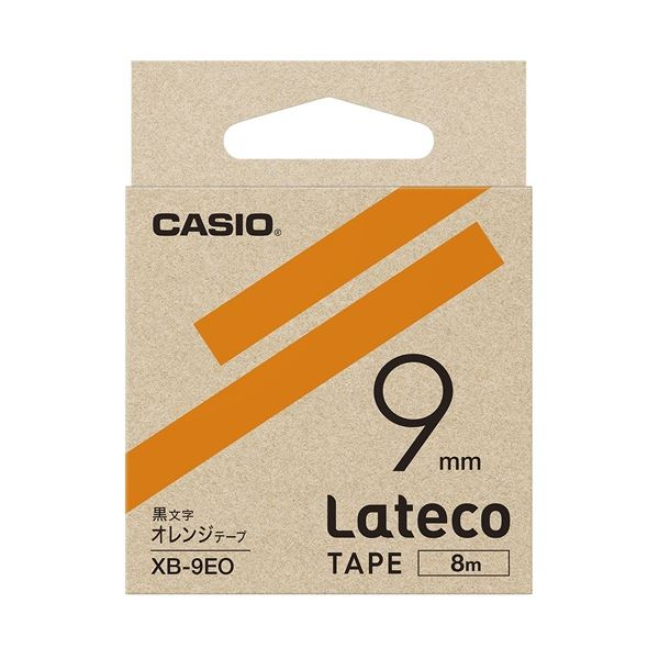 (まとめ)カシオ計算機 ラテコ専用テープXB-9EO オレンジに黒文字(×10セット) 送料込!:日本茶と健康茶のお店いっぷく茶屋