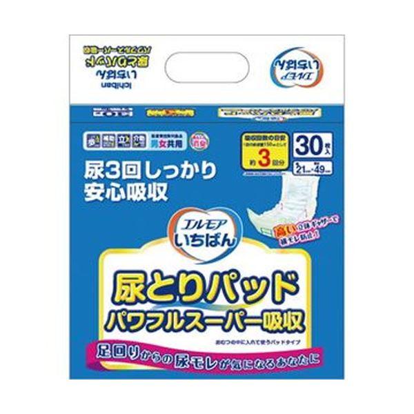 (まとめ)カミ商事 エルモア いちばん尿とりパッド パワフルスーパー吸収 1パック(30枚)【×20セット】 送料込!
