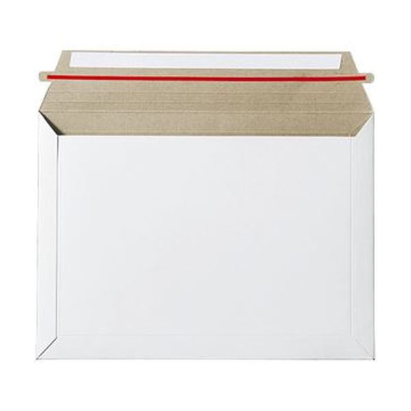 (まとめ)TANOSEE ビジネス封筒開封テープあり 340×250mm 300g/m2 1ケース(100枚)【×5セット】 送料無料!