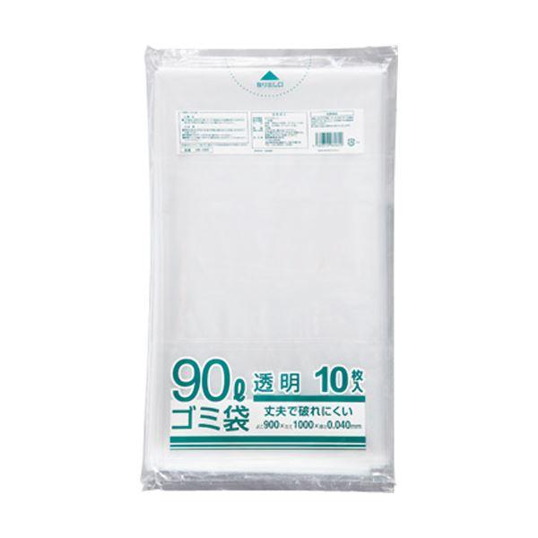 (まとめ) クラフトマン 業務用透明 メタロセン配合厚手ゴミ袋 90L HK-089 1パック(10枚) 【×30セット】 送料無料!