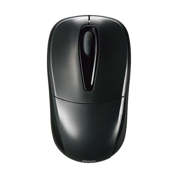 (まとめ) サンワサプライ 静音ワイヤレスマウス 2ボタン ブラック MA-WH123BK 1個 【×5セット】 送料無料!