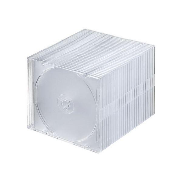 (まとめ) サンワサプライBlu-ray・DVD・CDケース(スリムタイプ) クリア FCD-PU30CL 1パック(30枚) 【×10セット】 送料無料!