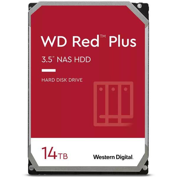 WESTERN DIGITAL WD Red Plusシリーズ 3.5インチ内蔵HDD 送料込 3年保証WD140EFGX 0718037-886183 NAS用 14TB 国内在庫 激安卸販売新品