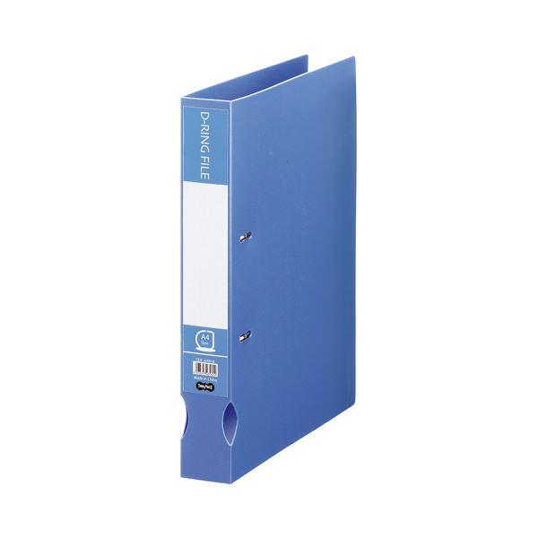 リングファイル Dリングファイル 引�出物 ��� TANOSEE Dリングファイル �生PP表紙 A4タテ 2穴 300枚�容 背幅43mm 高�質 ×30セット �料無料 1冊 ブルー