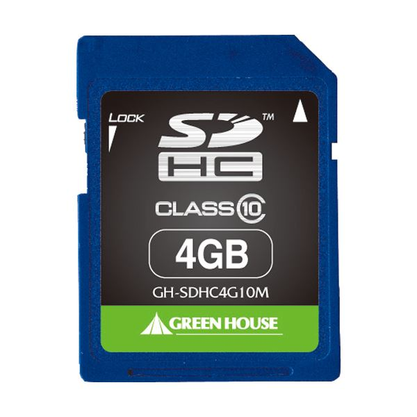 (まとめ) グリーンハウス SDHCカード 4GBClass10 GH-SDHC4G10M 1枚 【×5セット】 送料無料!
