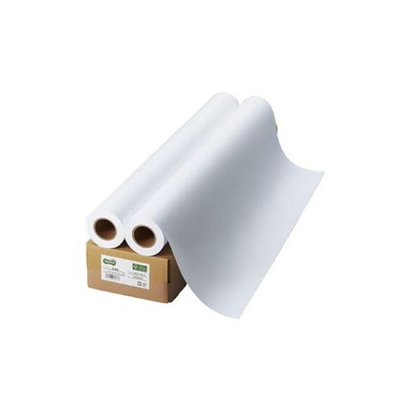 (まとめ)TANOSEE インクジェット用普通紙A0ロール 841mm×50m 1箱(2本)【×3セット】 送料込!