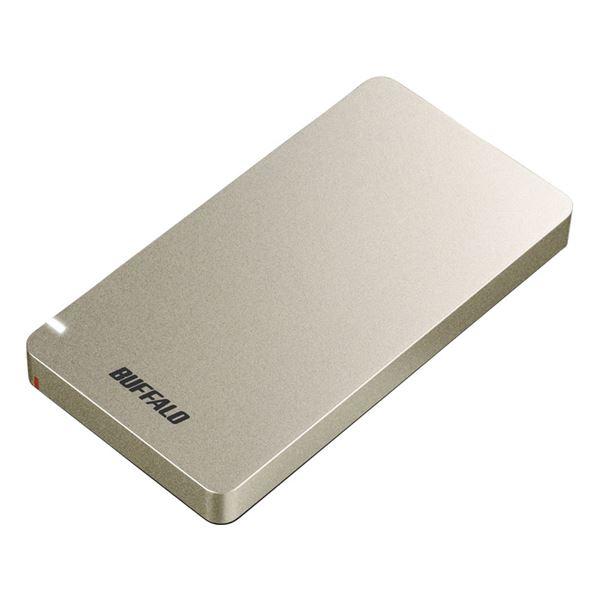 バッファロー USB3.1(Gen2) ポータブルSSD 480GB ゴールド 送料無料!