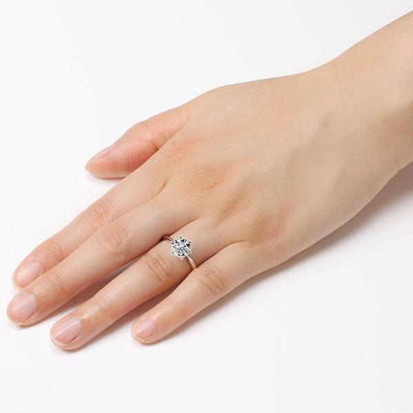 ダイヤモンド リング 一粒 1カラット 12号 プラチナPt900 Hカラー SI2クラス Good ダイヤリング 指輪 大粒 1ct 鑑定書付き !