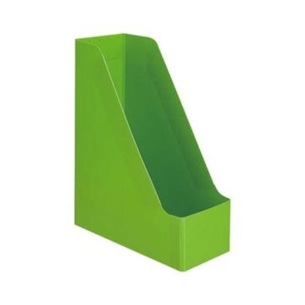 (まとめ)TANOSEE PP製ボックスファイル(組み立て式)A4タテ グリーン 1セット(10個)【×5セット】 送料無料!