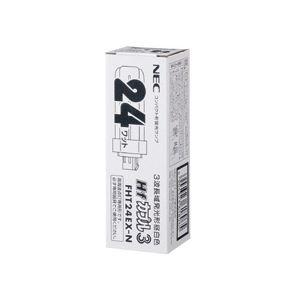 (まとめ) NEC コンパクト形蛍光ランプHfカプル3(FHT) 24W形 3波長形 昼白色 FHT24EX-Nキキ 1本 【×10セット】 送料無料!