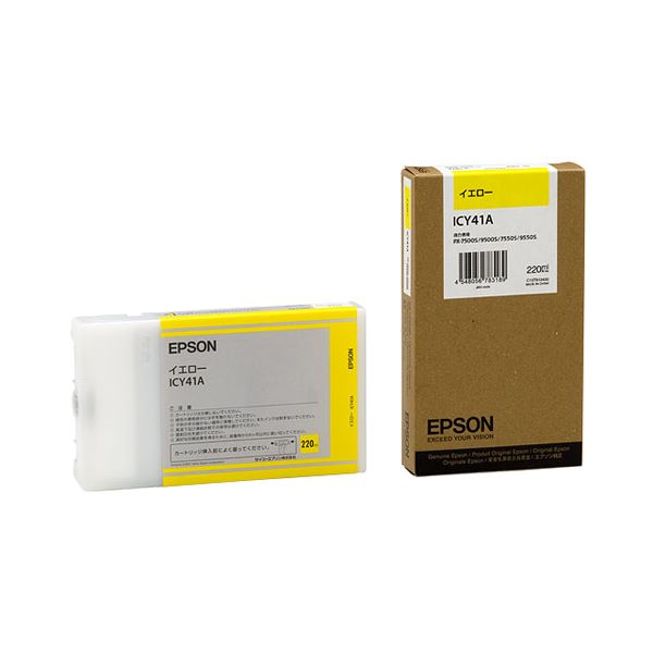 (まとめ) エプソン EPSON PX-Pインクカートリッジ イエロー 220ml ICY41A 1個 【×3セット】 送料無料!